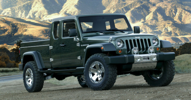 2017 Jeep Gladiator Pickup Truck front