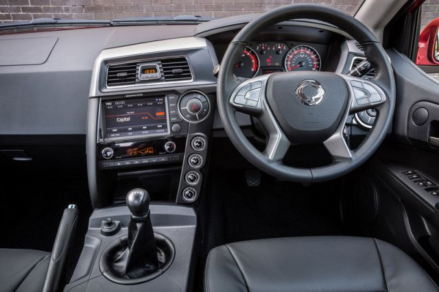 2017 Ssangyong Musso interior view