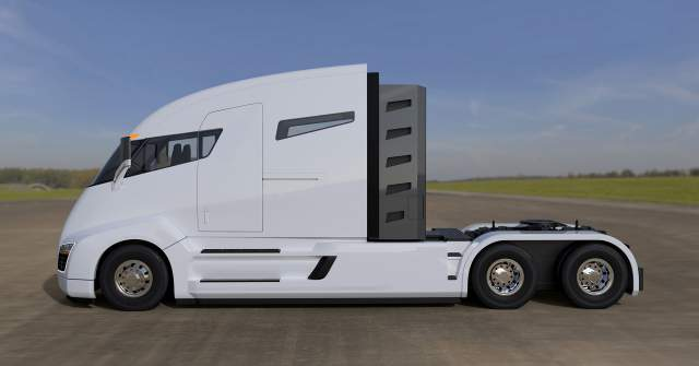 Nikola Tesla Truck side