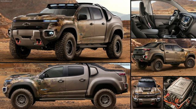 2017 Chevy Colorado ZH2 First Hidrogen Military PickUp ...