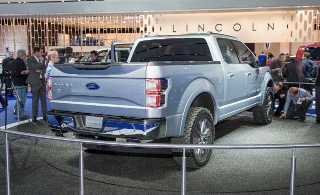 2018 Ford F-150 Atlas rear view