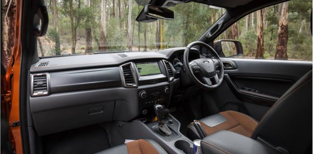 2018 Ford Ranger WildTrak interior
