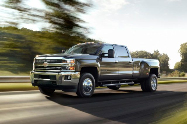 2018 Chevy Silverado 3500 side