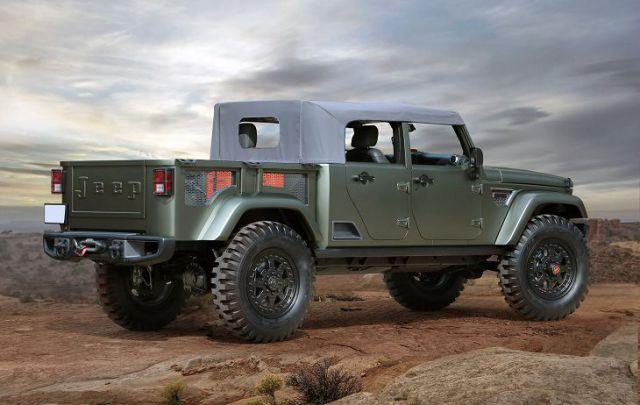 2018 Jeep Wrangler Pickup Truck rear