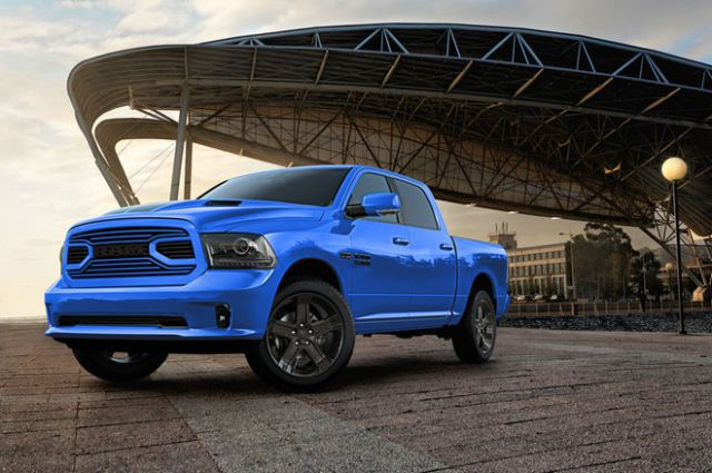 2018 Ram 1500 Hydro Blue Sport Special Edition front
