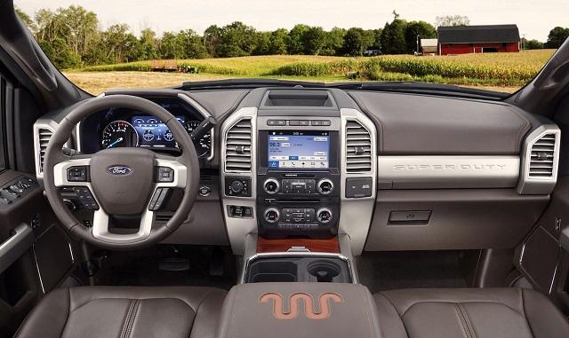 2021 Ford F250 Super Duty king ranch interior
