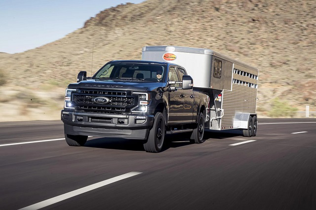 2021 Ford F250 Super Duty towing capacity