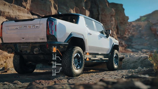 2022 GMC Hummer EV Extract mode