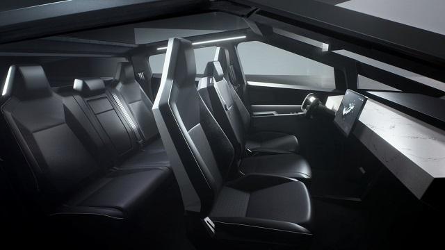2022 Tesla Cybertruck interior